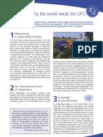 Brochure 10 Reasons Why the World Needs the Upu