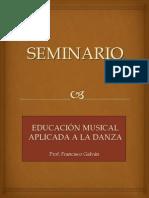 Seminario Música para balarines Temario