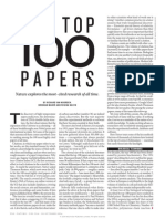 Nature Looks at The100 Most-cited Papers
