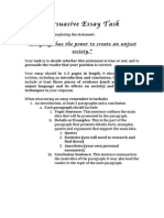 persuasive essay task