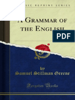 A Grammar of the English 1000003013