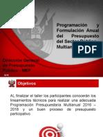 Programacion y Formulacion 2016-2018