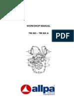 Manual Reductora IVECO TM 265 - TM 265A