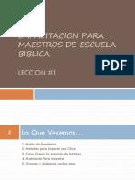 Capacitacion de Maestros_ Leccion 1_ 2010