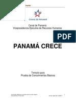 Temario Panamá Crece