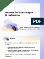 Potensi Minerba Indonesia 17Nov2014