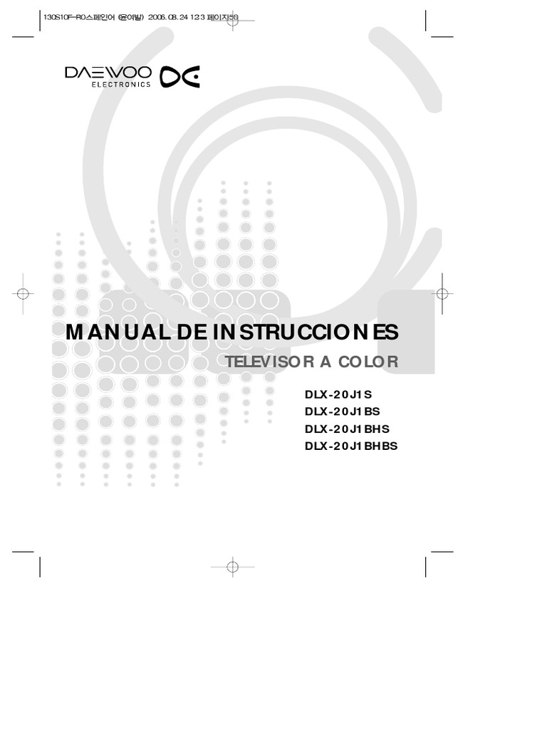 20j1 Manual de Instrucciones Televisor a Color Daewoo