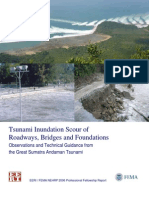 Tsunami Inundation Scour of Roadways, Bridges, And Foundation