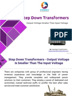 Step Down Transformers - Having Output Voltage is Smaller Than Input Voltage