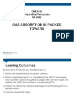 Gas Absorption in Packed Tower (S1 2015) (Note)