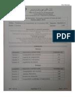 Examen de Fin de Formation Synthèse 2 Session Juillet 2014