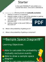 Sample Space Diagrams Yr 10