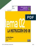 Tema 02 - La Instrucción EHE-08