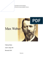 Max Weber Proiect TSA