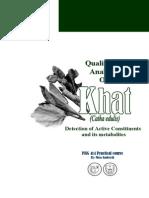Qualitative and Quantitative Analysis of Khat
