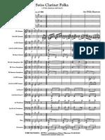 Swiss Clarinet Polka 4 Clarinet Solo