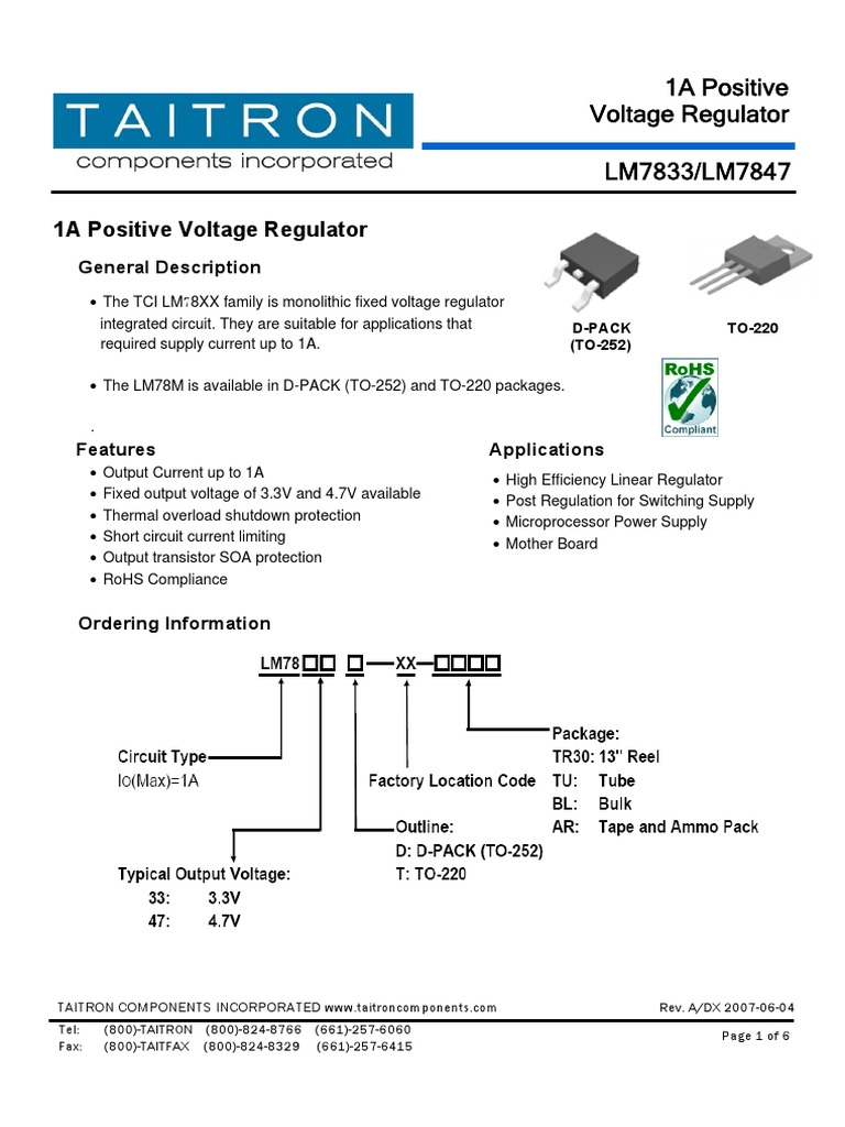 Lm7833 Electrical Components Engineering Voltage And Current Regulator Circuit
