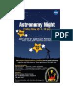 Astronomy Night Flyer
