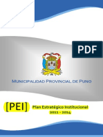 Plan Estrategico InstitucionalPUNO