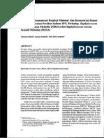 Penentuan konsentrasi hambat minimal dan konsentrasi bunuh minimal larutan povidon iodin 10% terhadap MRSA dan MSSA