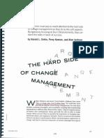 The Hard Side of Change Management - Sirkin, Keenan, Jackson