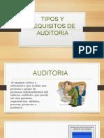 Tipos y Requisitos de Auditoria
