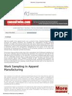 Work Sampling in Apparel