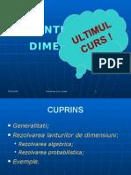 Curs 9 - Lanturi de Dimensiuni