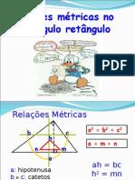 Relações Métricas No Triângulo Retângulo e o Teorema de Pitágoras
