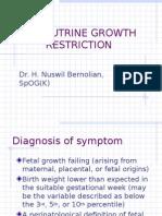 Intrautrine Growth Restriction
