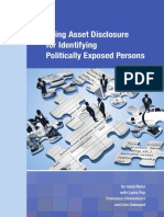 Using Asset Disclosure for Identifying Politically Exposed Persons