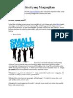 Bisnis Modal Kecil Yang Menjanjikan