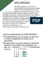 Capilaridad