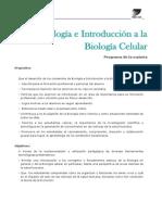Biología Celular Programa