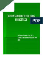 Sustentabilidad de Cultivos Energéticos