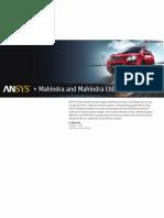 Mahindra Mahindra Auto Case Study_ANSYS
