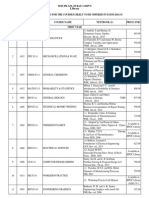Text Books Lists for II Semester 2014-2015