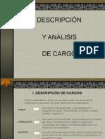3.- Descripción y Analisis de Cargo