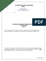 Hazlewood Act (Veterans)