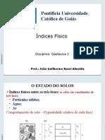Aula 3_4 - Índices Físicos - SOLOS
