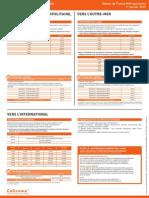 Principaux Tarifs Colis, affranchissement en ligne, au départ de France métropolitaine, à compter du 1er janvier 2015.pdf