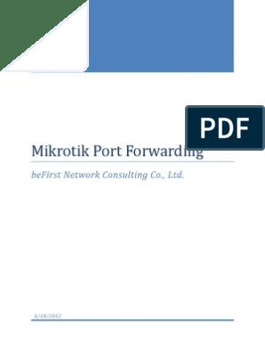 Mikrotik Port Forwarding manual pdf