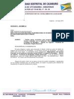 Oficio Para Envio de Proyecto y Formato de Coordinador IEI 16678 Naranjitos Cajaruro