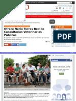 25-05-2015 Ofrece Nerio Torres Red de Consultorios Veterinarios Públicos.