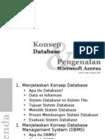 Konsep Database dan Pengenalan Microsoft Access