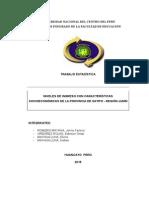 Trabajo Estadística Niveles de Ingreso Con Características Socioeconómicas de La Provincia de Satipo - Región Junín