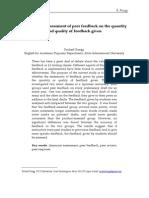 Effect of Assesment of Peer Feedback
