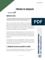 Aula 15 – Métodos de Adequação de PreçosObjetivos