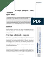 Aula N.º 2 - Características Das Alianças Estratégicas – Parte I - Outsourcing