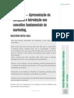 UvbAula Nº 1 – Apresentação Da Disciplina e Introdução Aos Conceitos Fundamentais de Marketing.